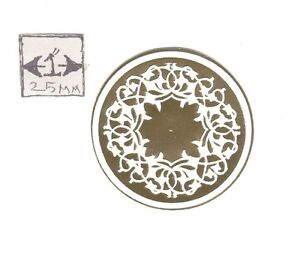 Faux Plaster Gilded Ceiling Medallion 34916 World /& Model Faux 1//12 scale