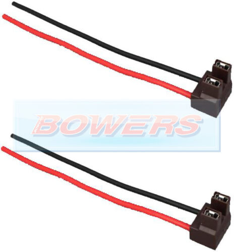 PAIR OF X2 H7 2 PIN HEADLIGHT REPLACEMENT//REPAIR BULB HOLDER//CONNECTOR PLUG WIRE