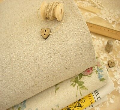 Japanese Plain Dark Natural Linen Jute Fabric Rustic Primitive Craft ZAKKA