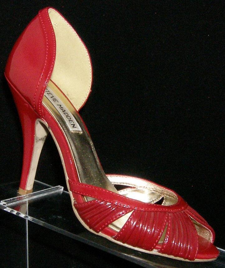 Steve Madden 'Tamer' red heels man made peep toe d'orsay heels red 6M 557035