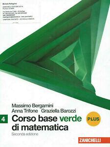 Corso Base Verde Matematica 4 Bergamini Zanichelli 9788808131157 Regalo Concorso