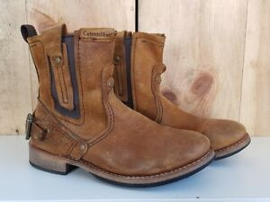 3b823d6ebe9 Image is loading Caterpillar-Mens-CAT-RAW-Vinson-Peanut-Brown-Leather-