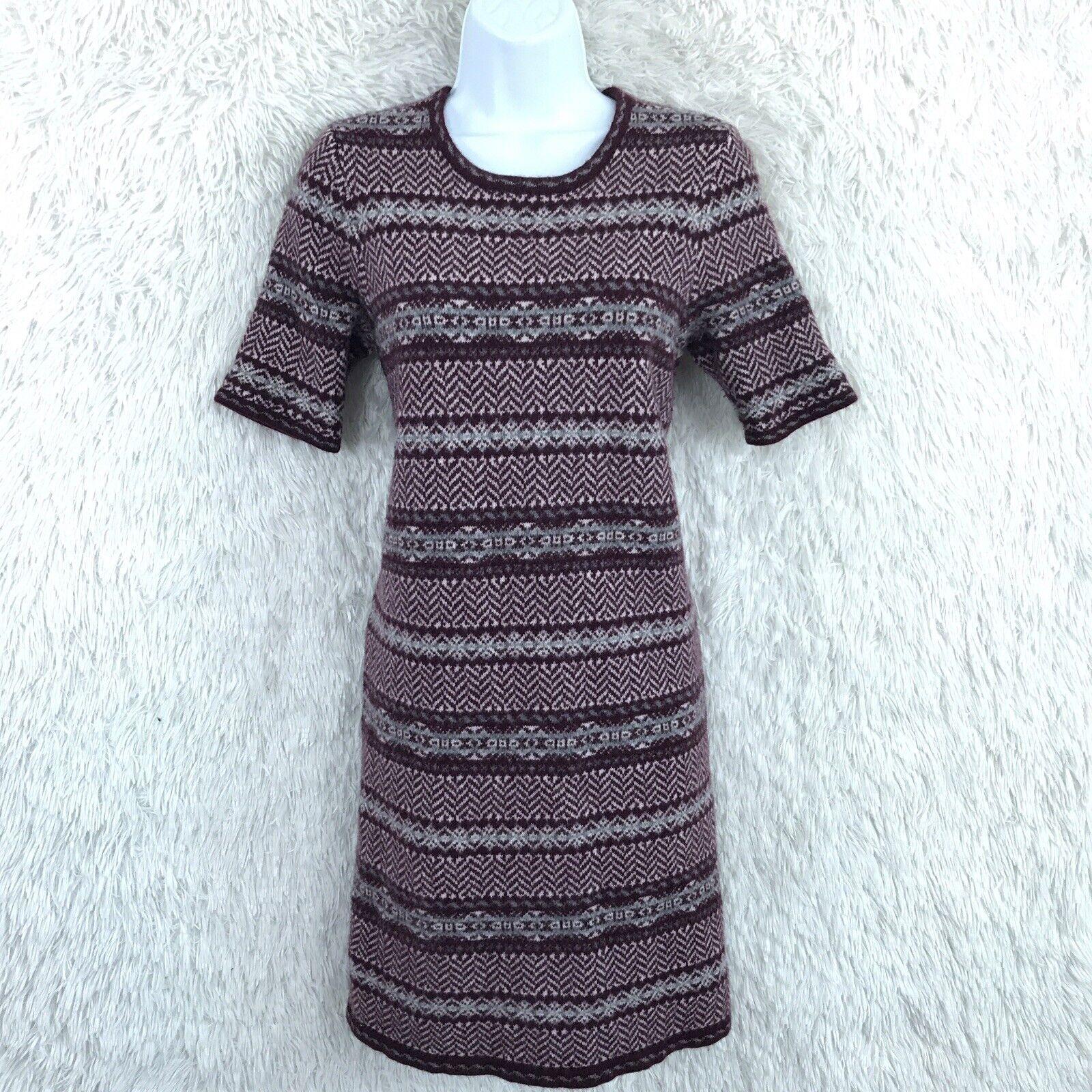 LRL Ralph Lauren damen Sz XL Cashmere Blend Sweater Dress Nordic Fair Isle