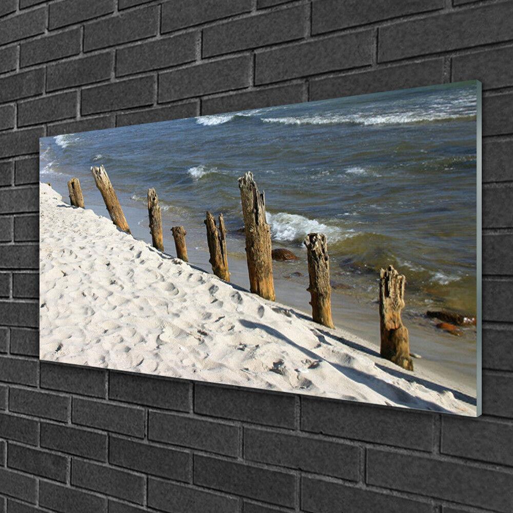 Image sur verre Tableau Impression 100x50 Paysage Plage Mer