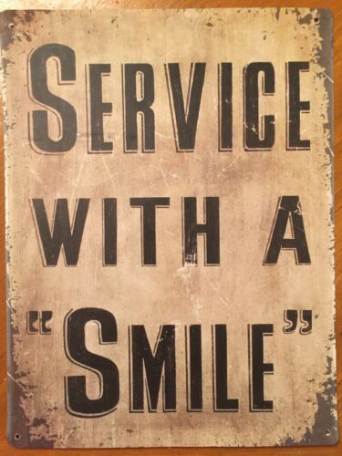 Tin Sign Vintage Service With A Smile