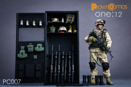 """PC007 PCTOYS 1//12 scale Metal Locker Storage Cabinet for 6/"""" action figures"""