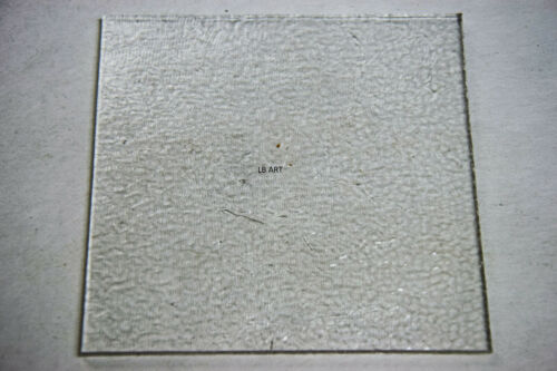 """1101.30-3mm CLEAR 4/""""x 4/"""" BULLSEYE GLASS SQUARE TILE 90 COE TESTED COMPATIBLE"""