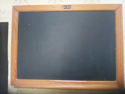 RUSTIC SLATE Board  CHALKBOARD Wood Frame VINTAGE ANTIQUE Both SIDED 9 X 7 STRAP