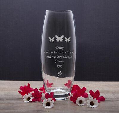 Personalised Glass Vase For Nanny Mom Grandma Nan Christmas Gifts Presents Ideas Ebay