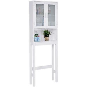 Details zu WC Toilette Überbauschrank Badezimmerregal Badschrank  Hochschrank Badregal weiß