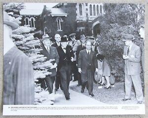 Rare Vintage 11x14 Photograph President Truman & Winston Churchill meeting 1946