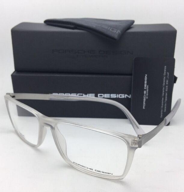 e51119dfea4 New PORSCHE DESIGN Eyeglasses P 8260 B 56-15 Matte Clear Crystal-Titanium