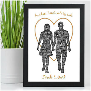 Image Is Loading Couples Personalised Anniversary Gifts Her Him Husband Wife