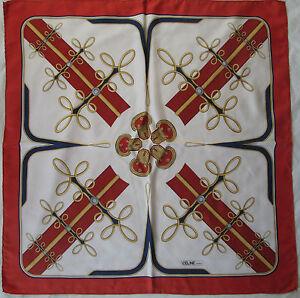 Superbe Foulard CELINE Paris 100% soie TBEG vintage scarf   eBay 1fb8b6faa14