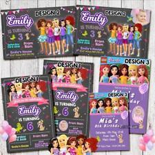 Item 1 Personalised LEGO FRIENDS BIRTHDAY Invitation Invites Party Girl Boy Magnet