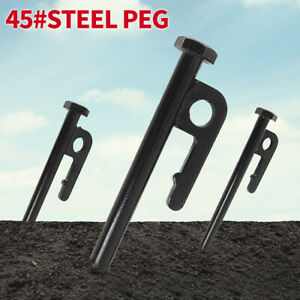 GI-1Pc-Heavy-Duty-Steel-Metal-Tent-Canopy-Camping-Stakes-Pegs-Ground-Nail-Bump