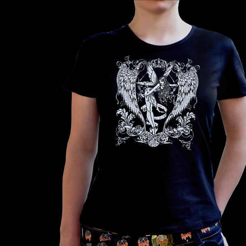 * Fantasy Elfen Gothic Tattoo Damen Girl Shirt *7182