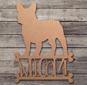 French Bulldog Inscription Bienvenue En Bois Découpé Au Laser Mdf Chien Craft Blanks Formes-afficher Le Titre D'origine M9nrik4k-10040036-211258501