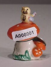 +# A008001 Goebel Archiv Muster Vogel Bird auf Pilz Mushroom Plombe VX82 TMK5