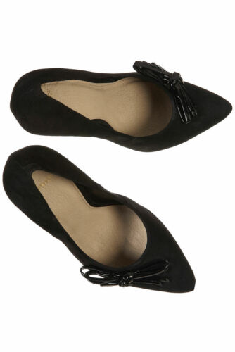 Court Uk Bow Lovely Shoes 4 Topshop nero New Suede Glitz Point In wxY18BUq