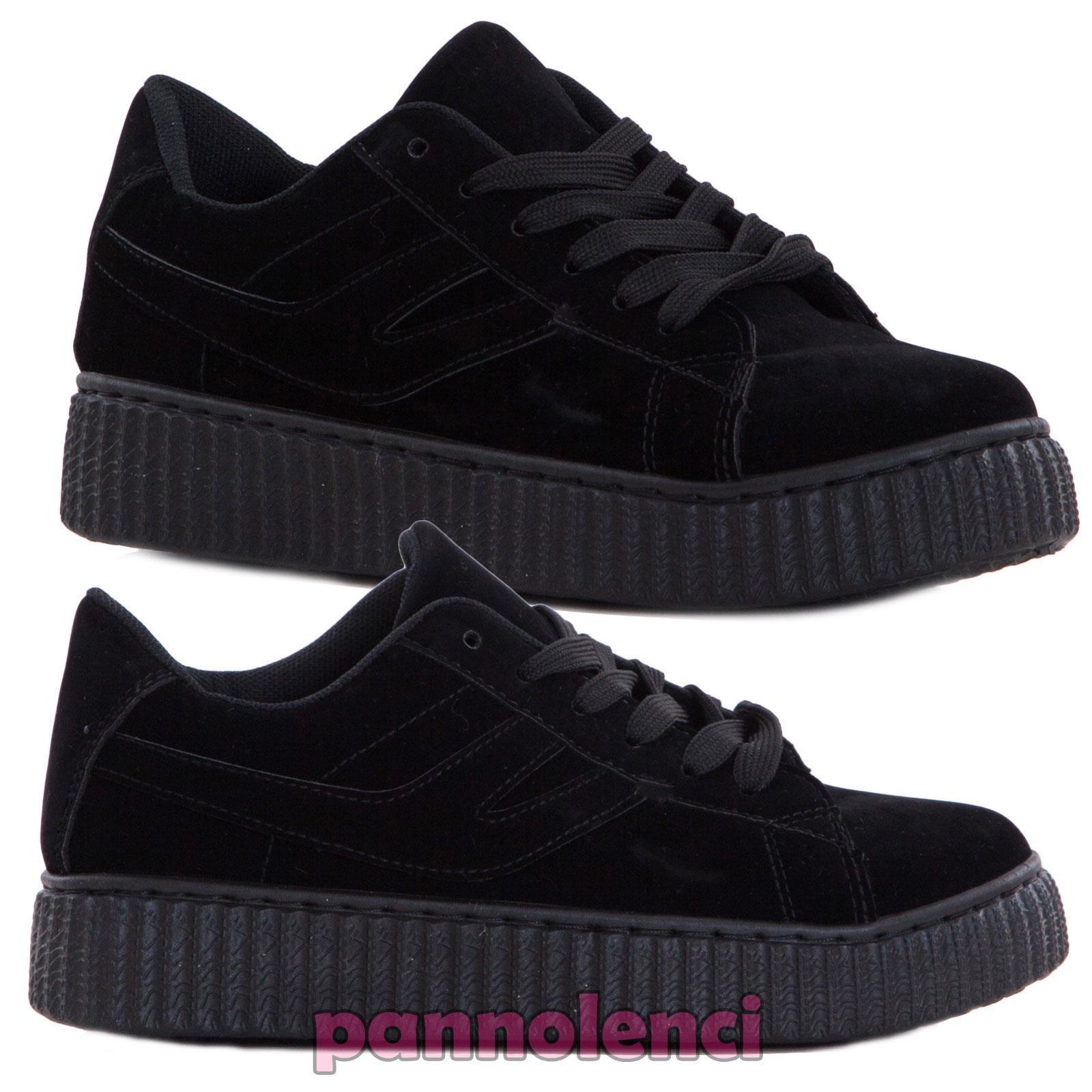 Chaussures Femme Sportif Baskets en Daim Casual à Lacets Neuf J9XX0698-1