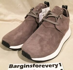 0a2d898a40579 New Men s Adidas NMD C2 Suede - BY9913 - Size 10 - Brown White Black ...