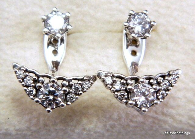 bd3ff01cc NEW/TAGS AUTHENTIC PANDORA EARRINGS FAIRYTALE TIARA STUDS #296228CZ RETIRED