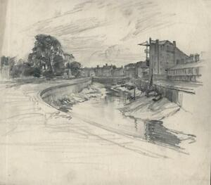 FRANK LEWIS EMANUEL (1865-1948) Pencil Drawing BOSTON LINCOLNSHIRE 20TH CENTURY