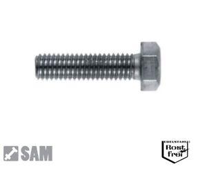 Scheiben 10  V2A Schrauben Muttern Din 933 M6 x 55 Rostfreier Stahl