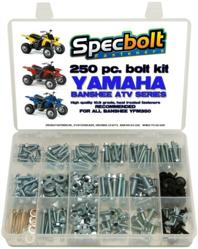 Yamaha ATV Banshee Bolt kit 250 piece body bolts nuts plastic fenders engine