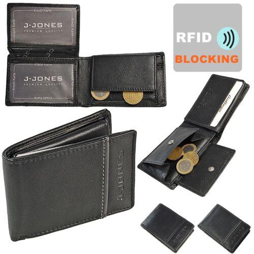J Jones petite Messieurs Porte-monnaie cuir portefeuille avec RFID Bloquants Minibörse 5318