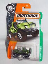 Matchbox 2016 MBX Explorers Series #124 Cliff Hanger Green CB Scout Jeep