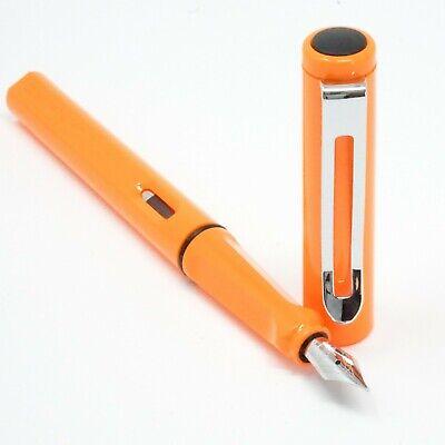 UK! JINHAO #992 Clear Transparent Lightweight Plastic Fountain Pen F Nib CT
