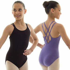 176f330600a0 Capezio Double Strap Camisole Ballet Dance Leotard Cotton Girls ...