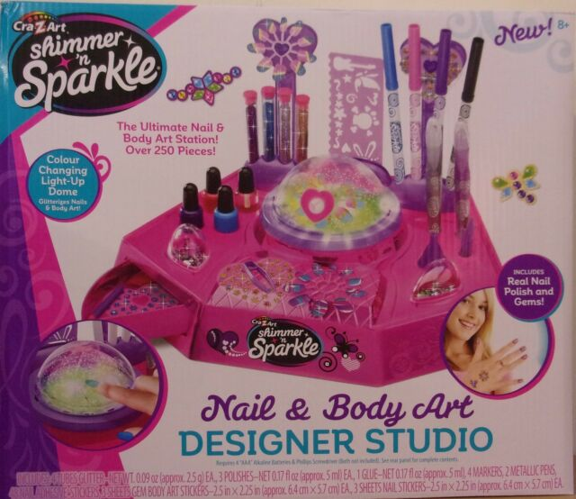 Shimmer And Sparkle Designer Nails Girl Body Art Studio Creation Toy