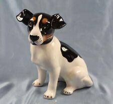 Jack Russell terrier  hund Keramik  hundefigur lebensgroß porzellan figur tr