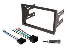 Complete Double Din Aftermarket Radio Install Dash Kit Wire Harness Adapter 2Din