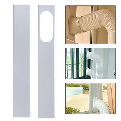 CW/_ Portable Air Conditioner Window Slide Kit Plate Exhaust Hose Connector FIN