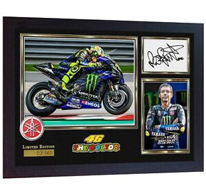 NEW-Valentino-Rossi-signed-autographed-print-photo-FRAMED