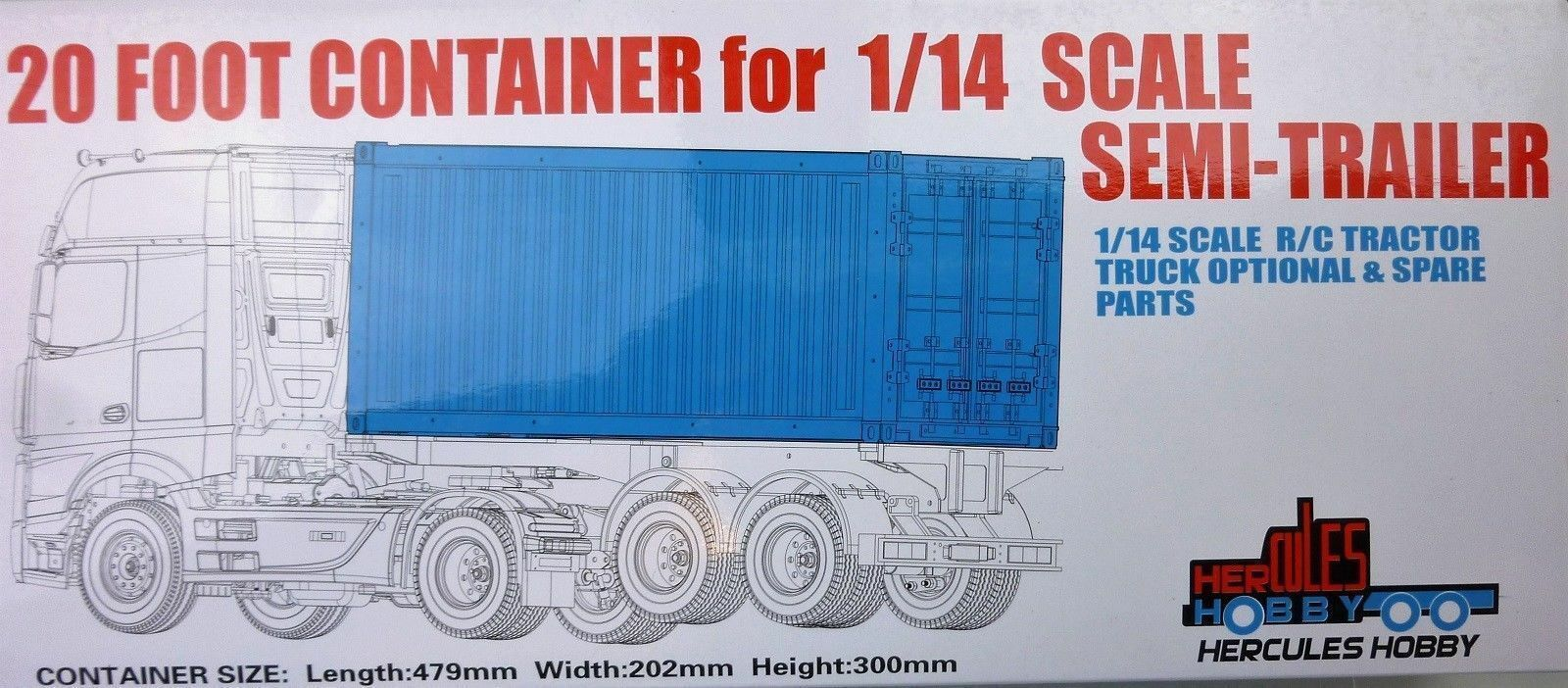 For RC Tamiya Scania Actros Trailer modello modello modello 1 14 20 40FT Aluminium Frame Container c245b5