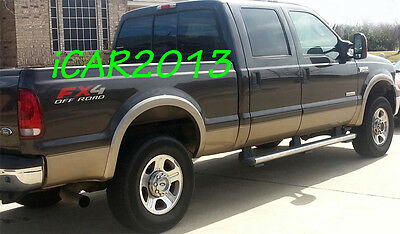 F350 FINE GRAINED MATTE BLACK OE STYLE FENDER FLARES 1999-2007 FORD F250