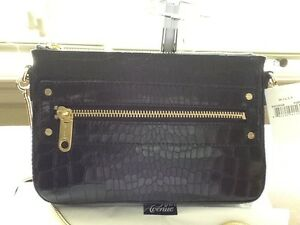 Image Is Loading Milly Callan Crocodile Embossed Leather Mini Shoulder Bag