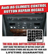 Climate Control Button Repair Decals Stickers for Audi A6