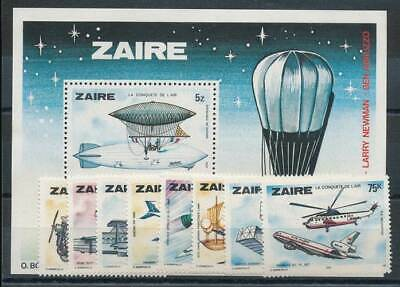 Dinge Bequem Machen FüR Kunden Ausdrucksvoll 617575 Zaire Nr.580-7+block 22** Flugzeuge Etc..