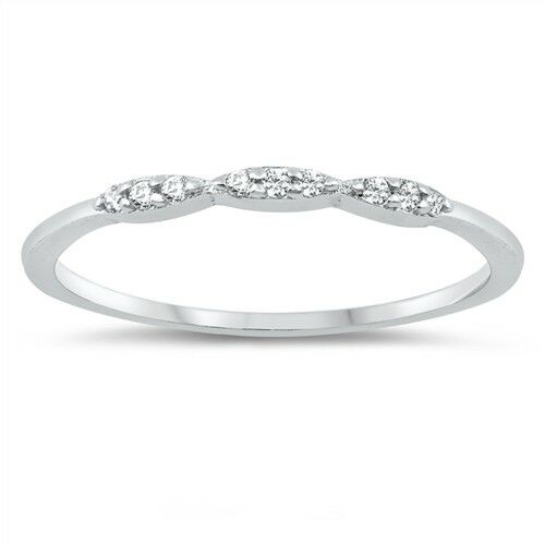 USA Seller Ring Sterling Silver 925 Best Price Jewelry Selectable Gift Clear CZ