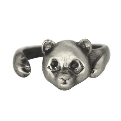 Cute Teddy Bear Ring Retro Bear Adjustable Ring Fashion Jewelry Animals Rings