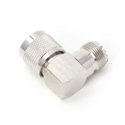 UHF PL259 Male Plug To SO239 Female Jack Right Angle 90° RF Adapter Connector
