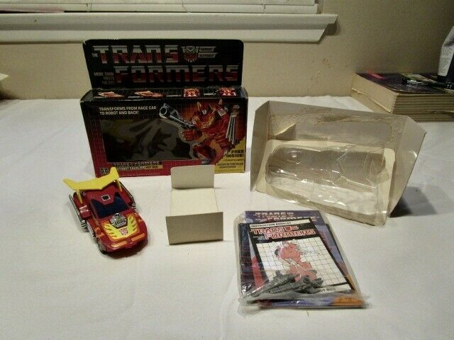 Transformers Generation One Autobot Hot Rod 100% Completo Caja Mib  2