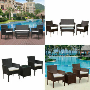 3-4Pcs-Rattan-Garden-Furniture-Set-Patio-Outdoor-Table-Chairs-Sofa-Conservatory