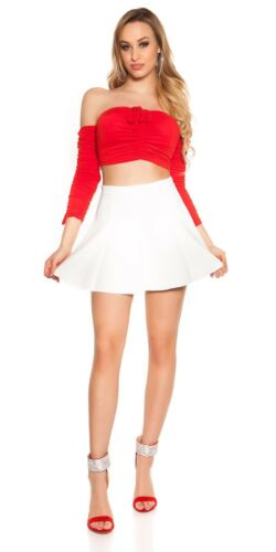 Damen Coldshoulder Crop Top Shirt